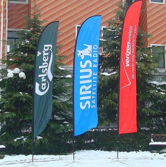 High Quality Outdoor Advertising Feather Flag Sign