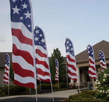 Personalized Flags and Banners American Flag Feather