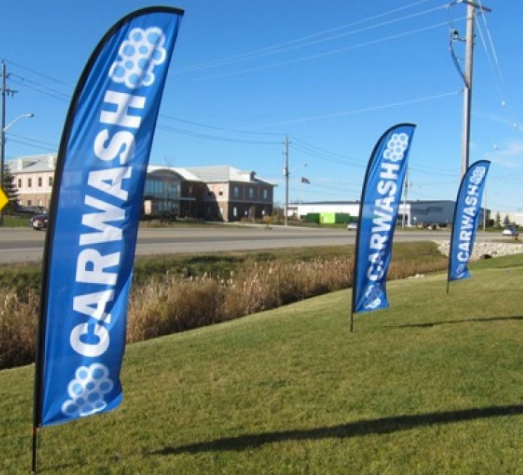 Personalized Flag Banner Outdoor Car Wash Feather Flags