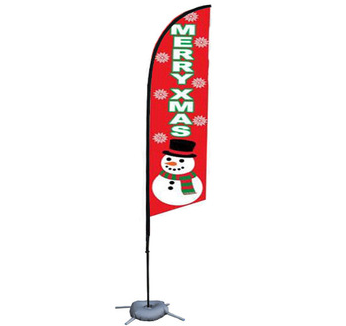 Bulk Wholesale Polyester Christmas Feather Flags Cheap