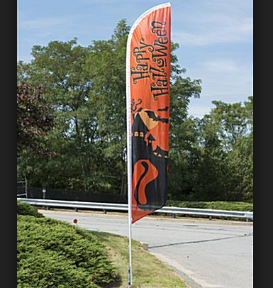 Wholesale Cheap Custom Halloween Feather Flags Outdoor