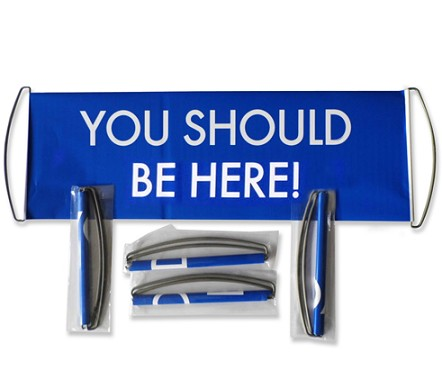 Hand held scrolling banner retractable scroll banners
