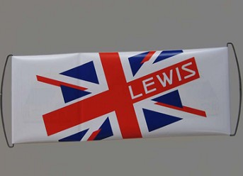 Hand held retractable pull up banner PET hand scroll banner